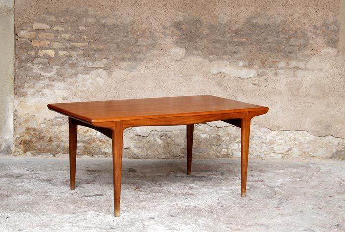table scandinave en teck 2 rallonges gentlemen designers vintage scandinave industriel. Black Bedroom Furniture Sets. Home Design Ideas