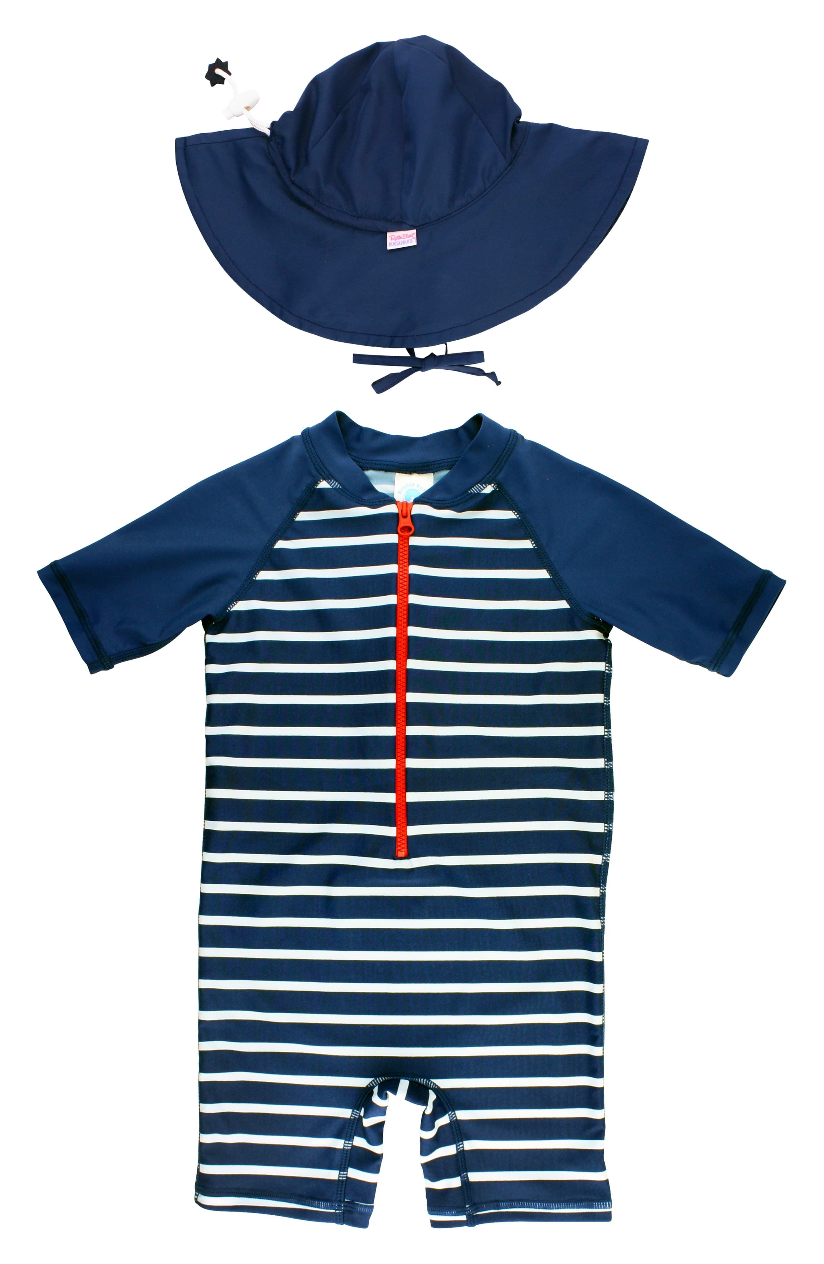 RuggedButts Little Boys Long Sleeve Gray Pullover Sweater w//Stripes