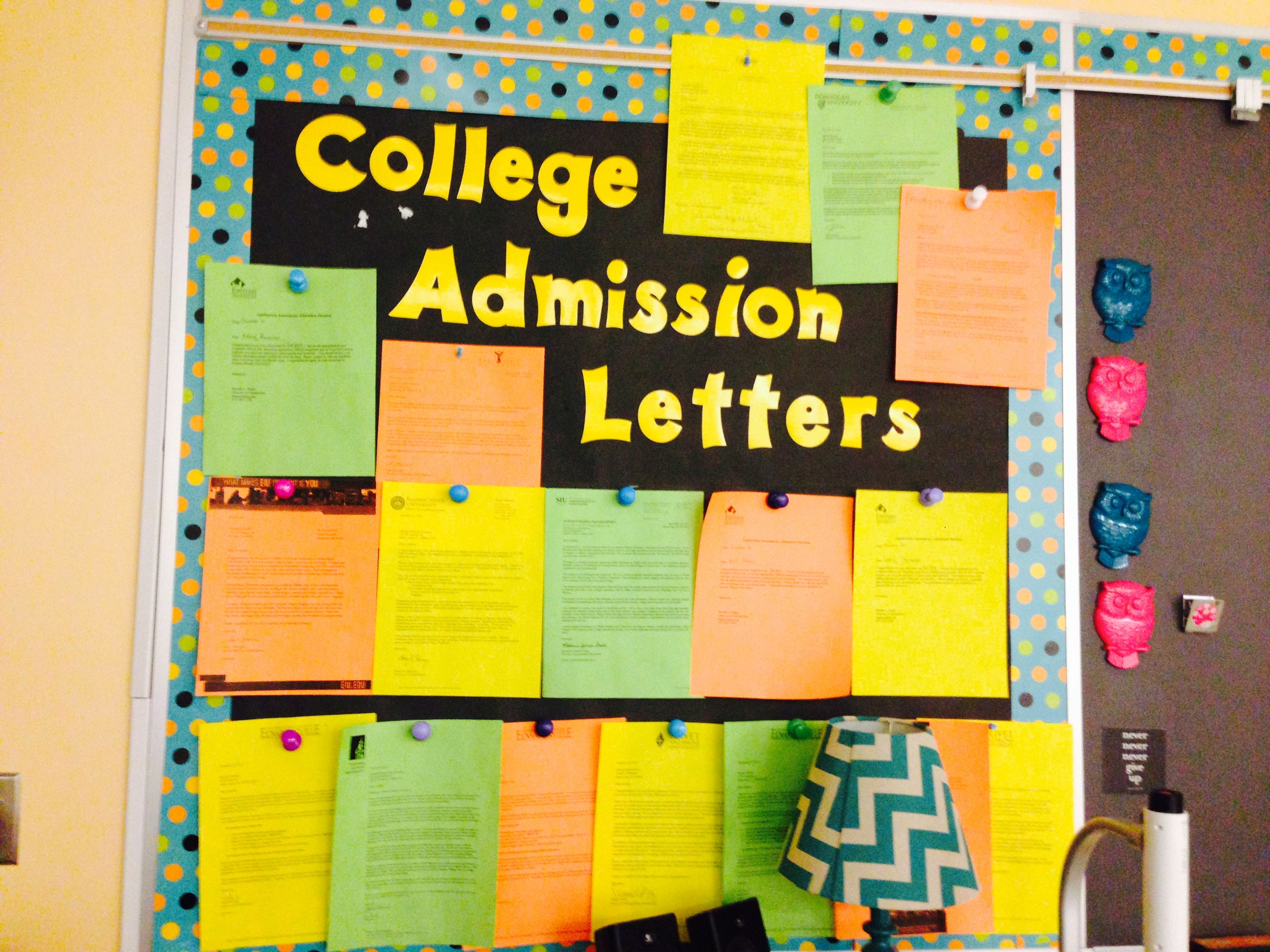 College Admission Letter Bulletin Board Create A CollegeGoing