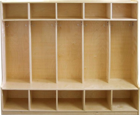 Birch 5 Section Coat Locker With Bench Furniture Furnishings Daycare Cubbies Mudroom Lockers Ecr4kids
