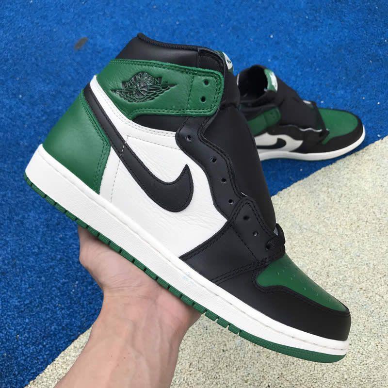 b9d0ab37d50a pine green new air jordan 1 high og shoes 555088-302 release date detail  image