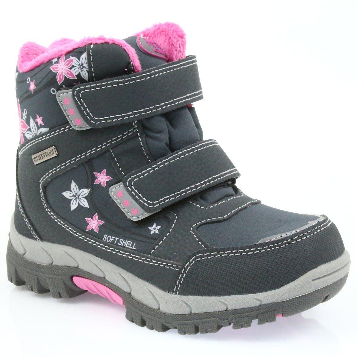 American Club American Buty Zimowe Z Membrana 3121 Rozowe Wedge Sneaker Shoes Sneakers