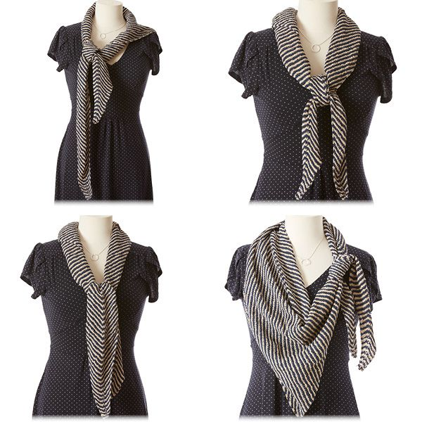 10 Ways to Style an Asymmetrical Shawl | knitting | Pinterest