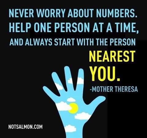 So very true. I love my new life and how it lets me help one person at a time.   www.myvi.net/shelliereneebug