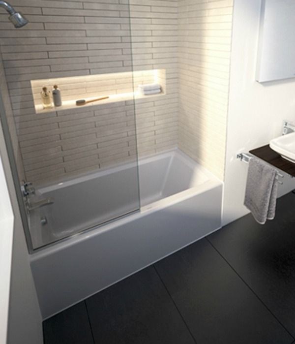 Recessed (alcove) tubs are typically combined with showers for ...