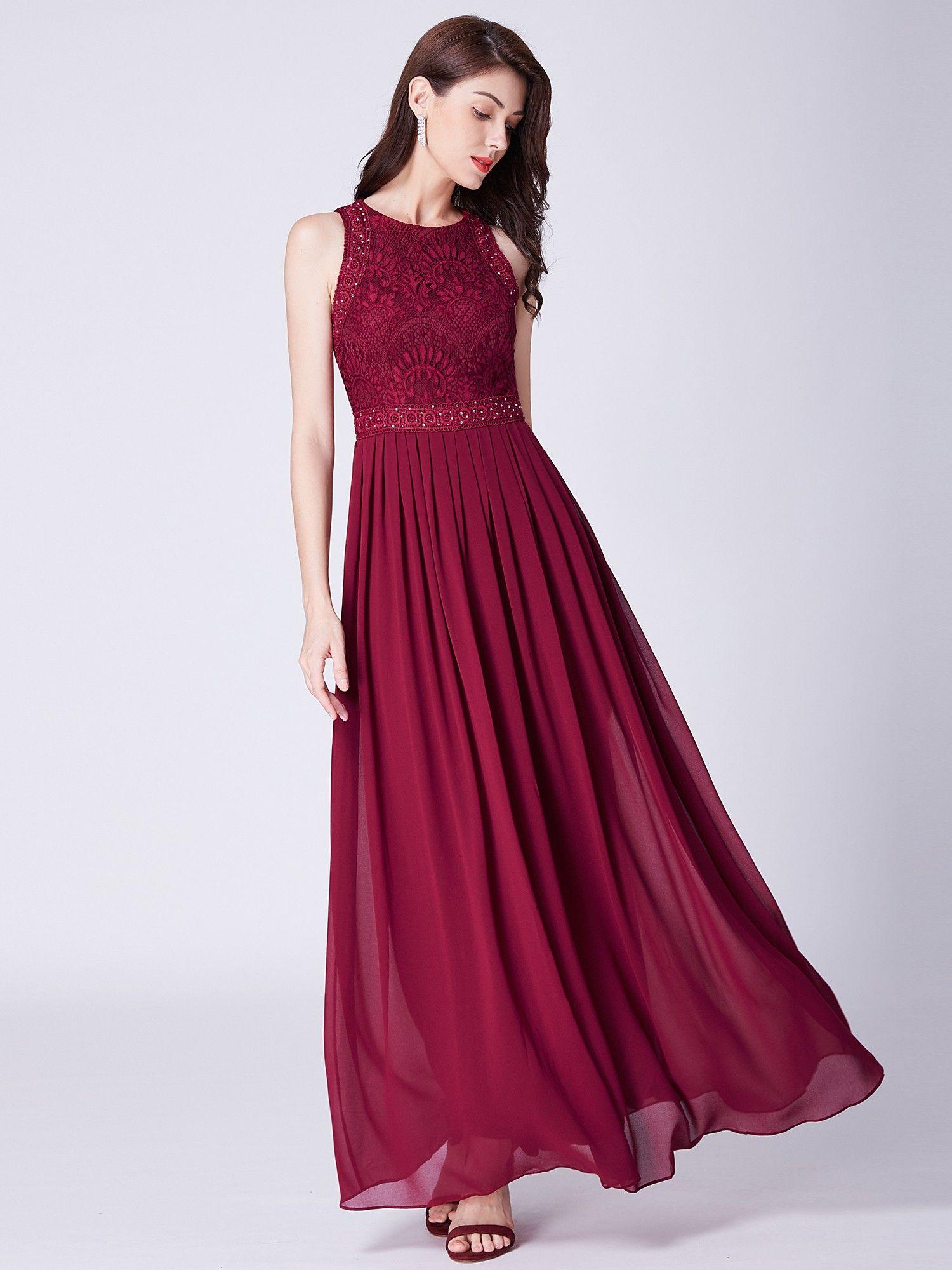Sleeveless high collar long a line evening dress bridesmaids