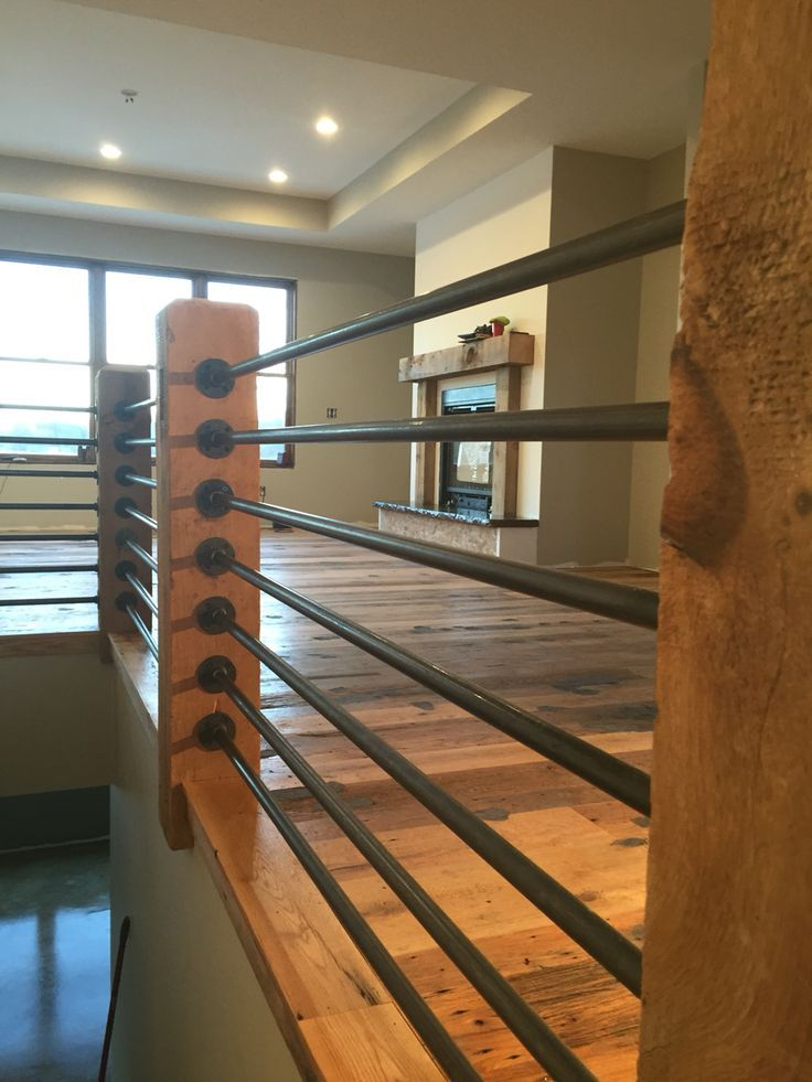 rustic industrial railings | Gas pipe, Pipes and Black on ...