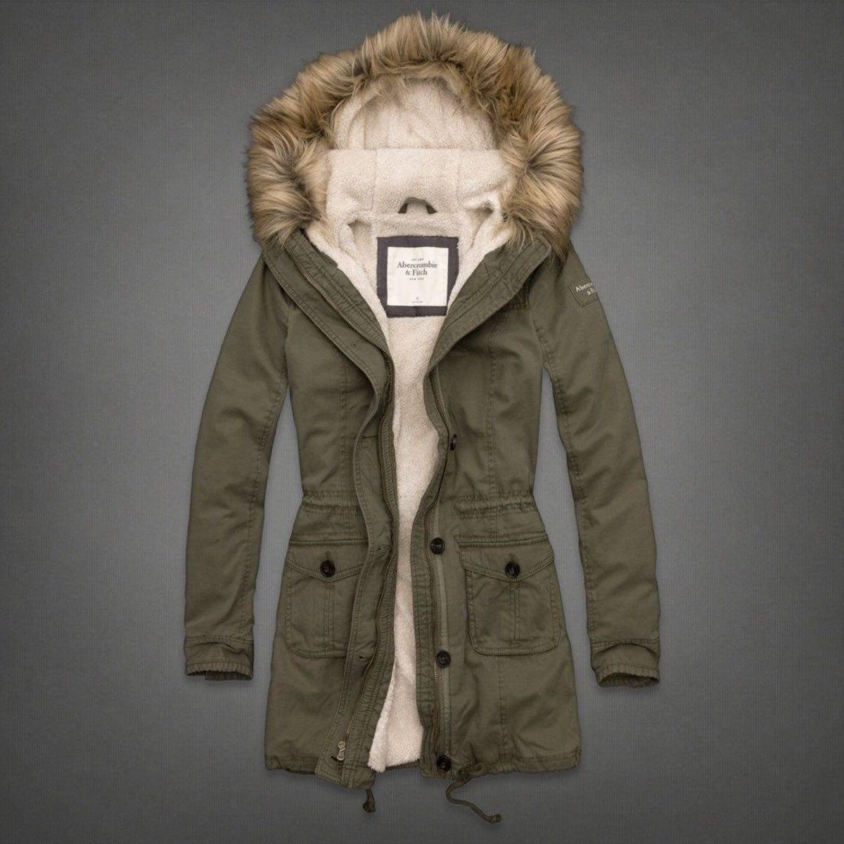 Abercrombie And Fitch Green Jacket Abercrombie And Fitch Outfit Faux Fur Hoodie Parka [ 1200 x 1200 Pixel ]