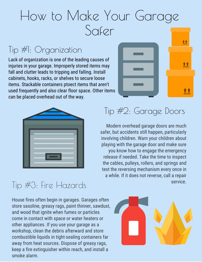 How To Make Your Garage Safer Garage Door Safety Garage Doors Garage