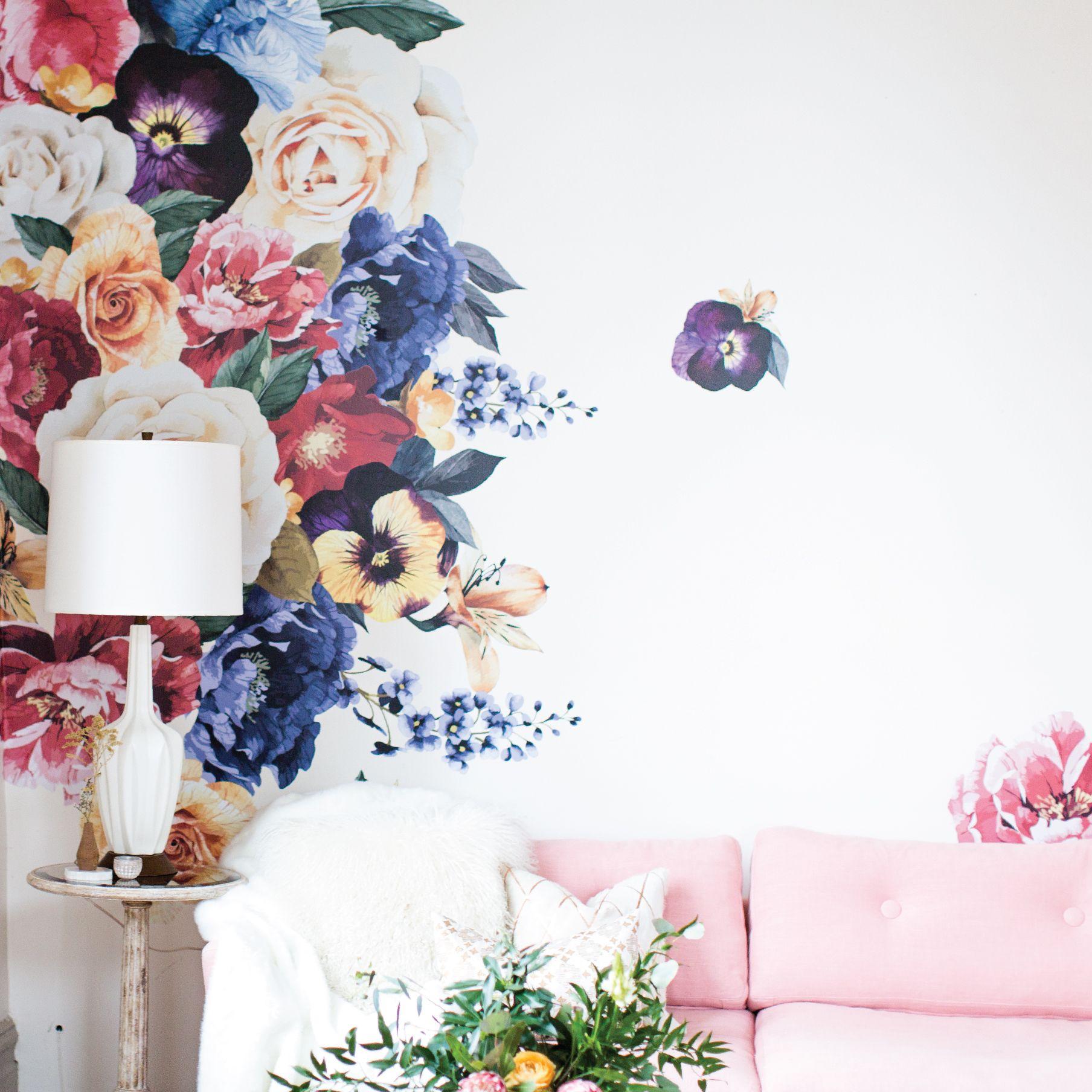 vintage floral wall decals urban walls - HD1808×1808