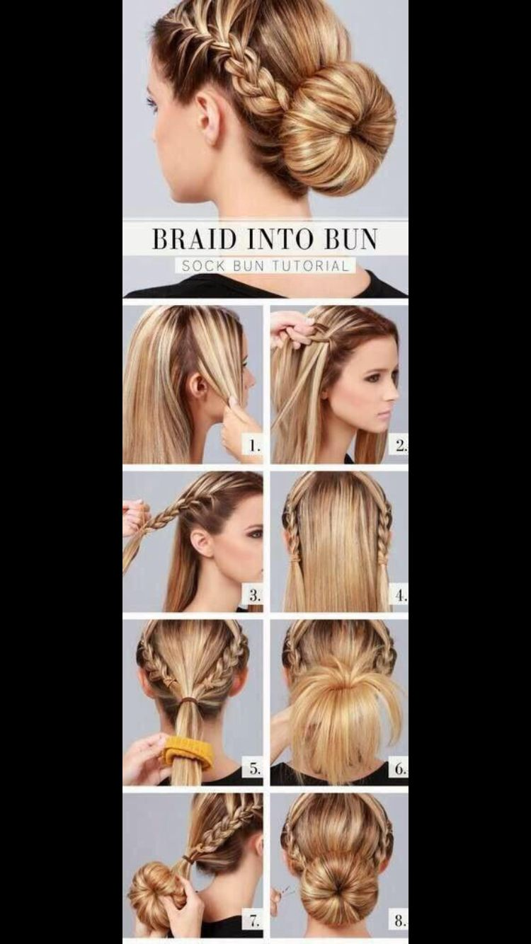 Cute braid bun cute hair styles pinterest hair style