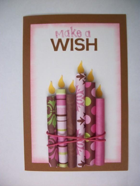 Birthdays Candle Cards Cards Handmade Kids Birthday Cards