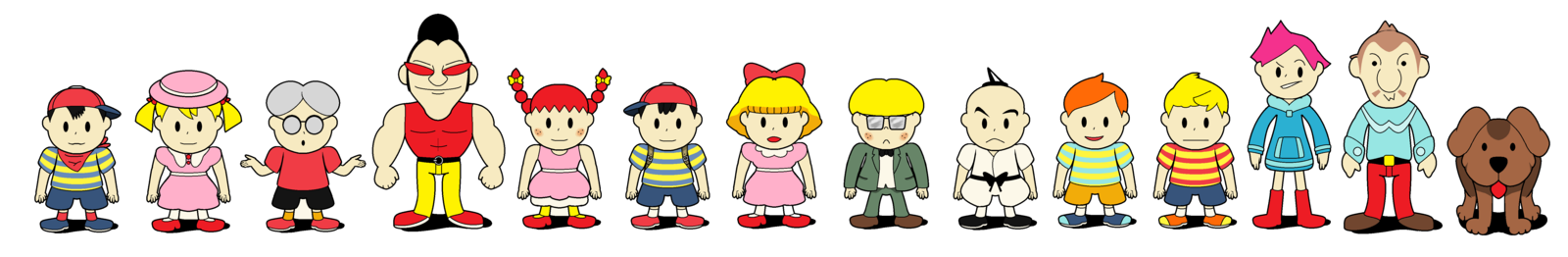 Earthbound Characters | Mother Earthbound series main
