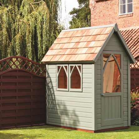 Garden Paint   Ronseal Willow. A really neat colour for the small ...