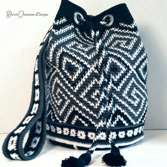 Kordelzug, native Design, Wandbehang häkeln, Tasche | Häkeltaschen ...