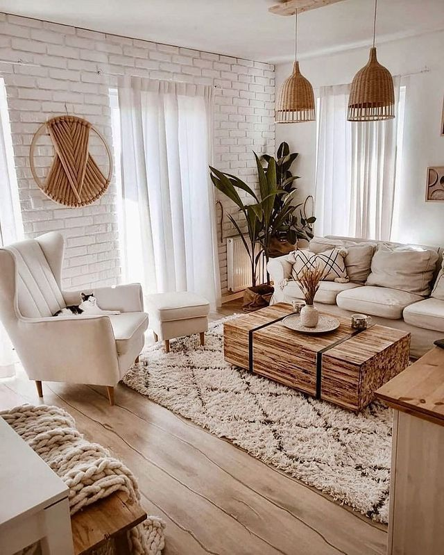 """Farmhouse Inspiration on Instagram: """"Lovely deco ideal design what's your thoughts about this?🤗🧡🧡🤎⠀ .⠀ Credit  @oliv.home⠀ _____⠀  decor  homesweethome  decoration…"""""""