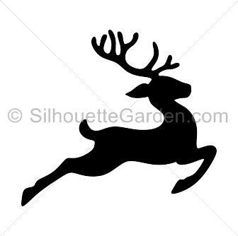 Christmas Reindeer Silhouette.Pin By Muse Printables On Silhouette Clip Art At