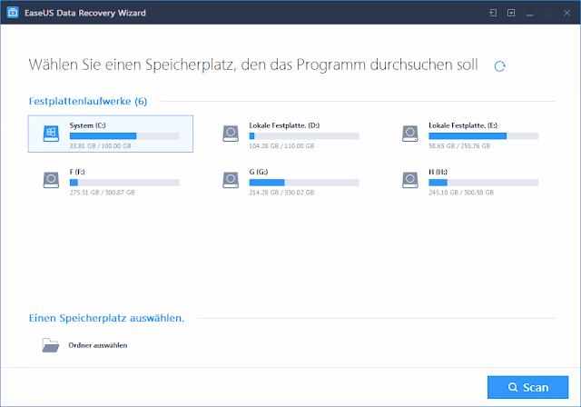 برنامج Easeus إسترجاع الملفات المحذوفة على الكمبيوتر مجانا Bar Chart Chart