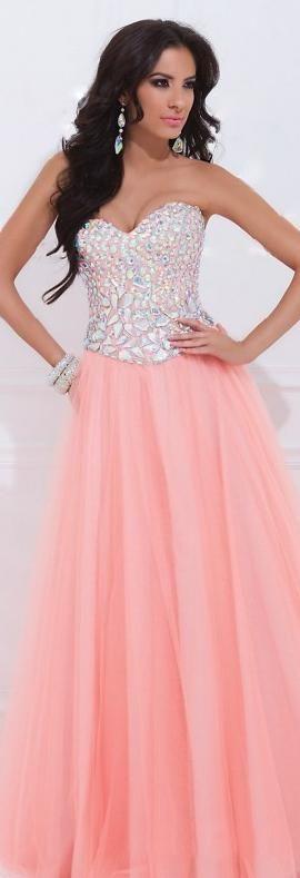 Embellished Pink Sleeveless A-Line Long Sweetheart Prom Dress Sale motodresses41521qaues #pinkdress #promdress