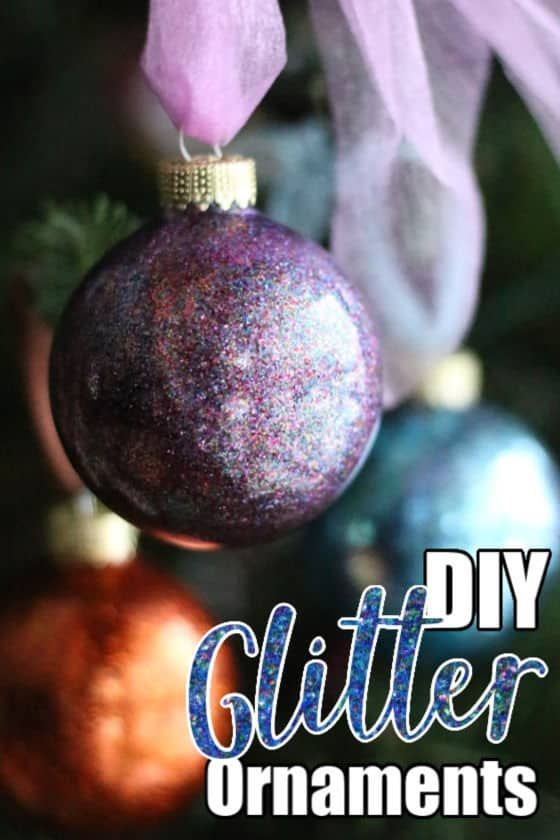 EASY DIY GLITTER ORNAMENTS Ornaments, How to make