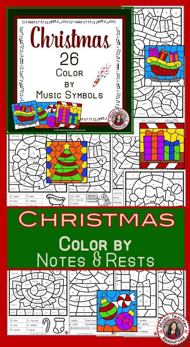 Christmas Music Activities: 26 Christmas Music Coloring Pages ...
