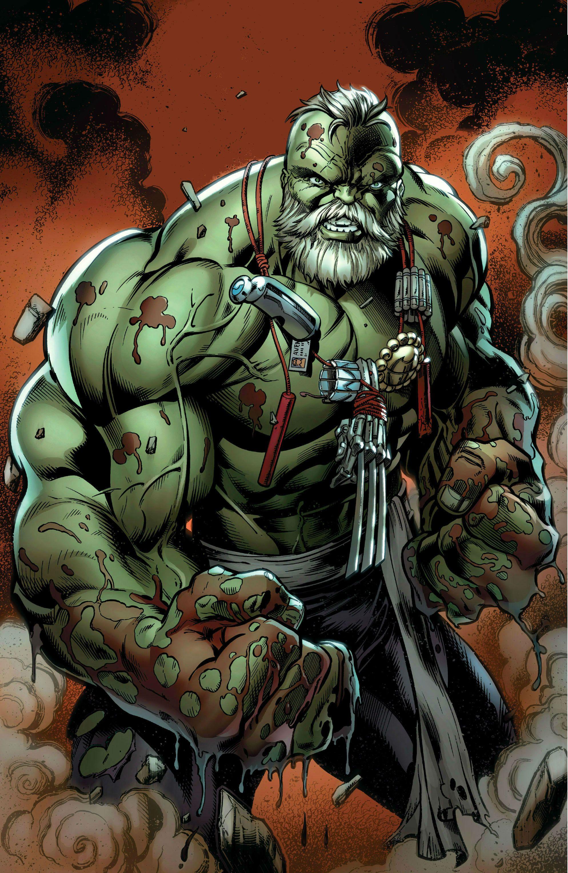 Doc Green (Dr. Bruce Banner) (Alternate Hulk persona) | art by Mark Bagley  | Hulk art, Hulk marvel, Marvel comic universe