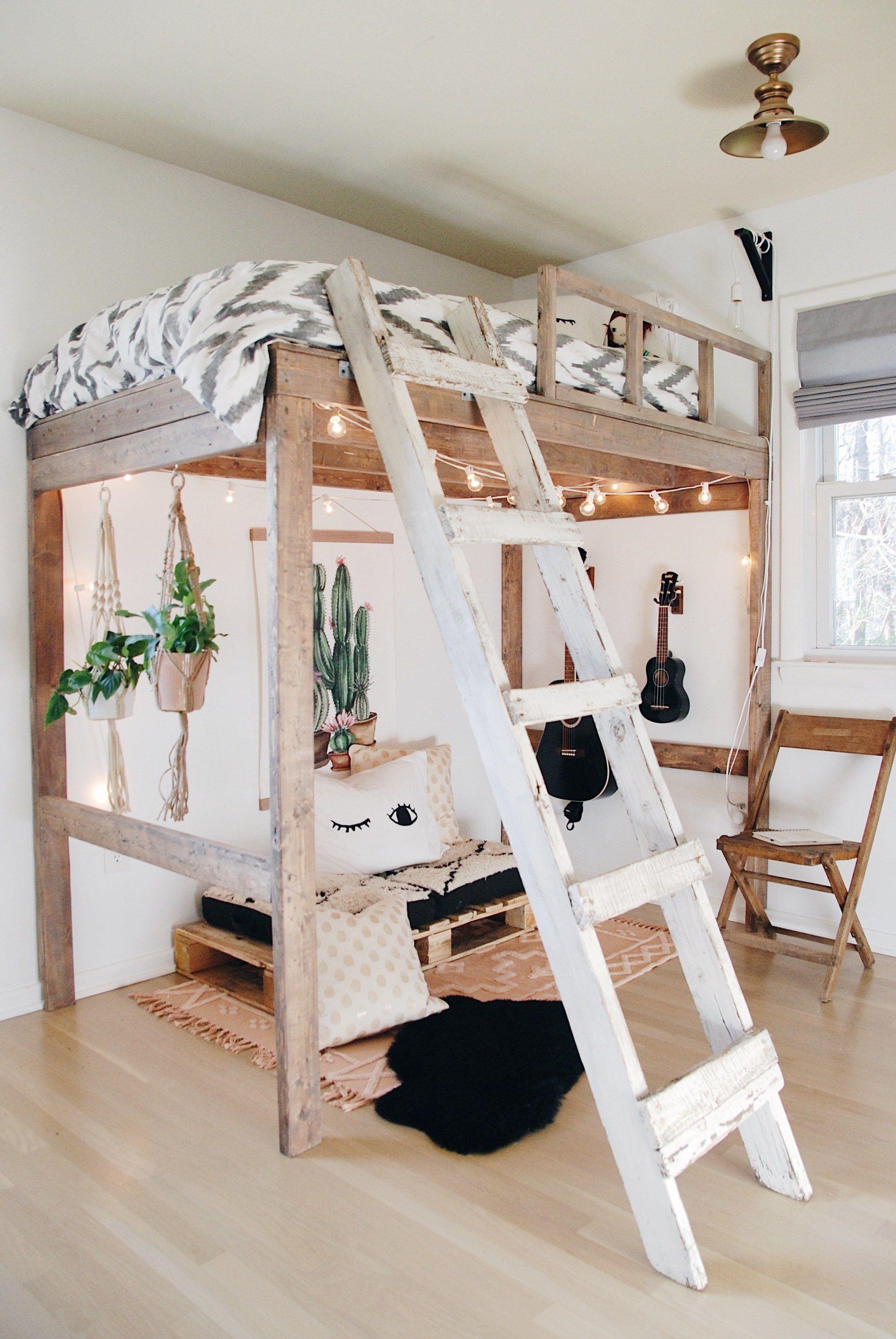 Boho Modern Loft Bedroom Little City Cottage Modern Loft Bed