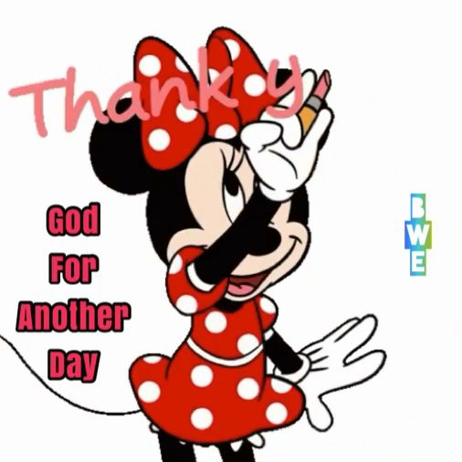 Thank you god for a another day #minniemouse