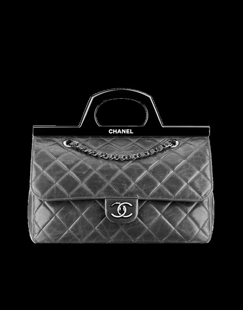 Chanel Pattentasche Aus Kalbsleder Mit Festem Griff Bags