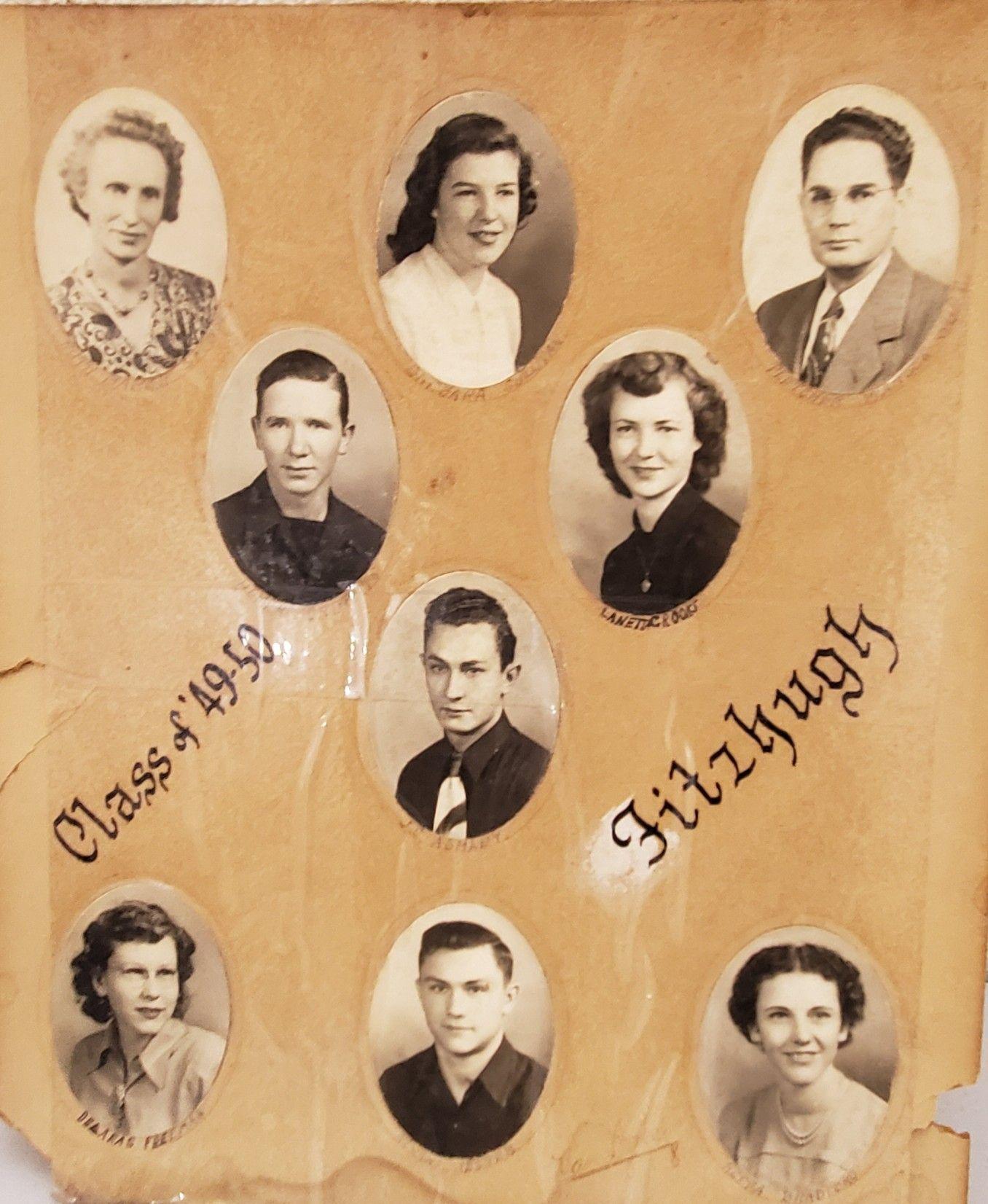 Fitzhugh oklahoma school 194950 seniors pontotoc