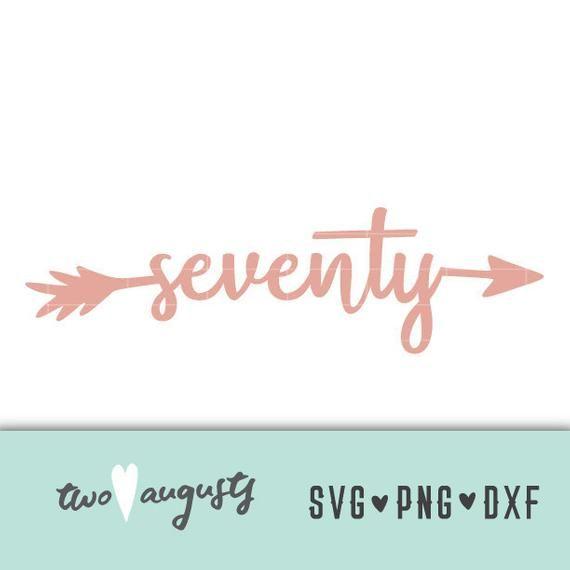 Download Seventy Arrow SVG, DXF, & PNG, Files, Design, Cricut ...
