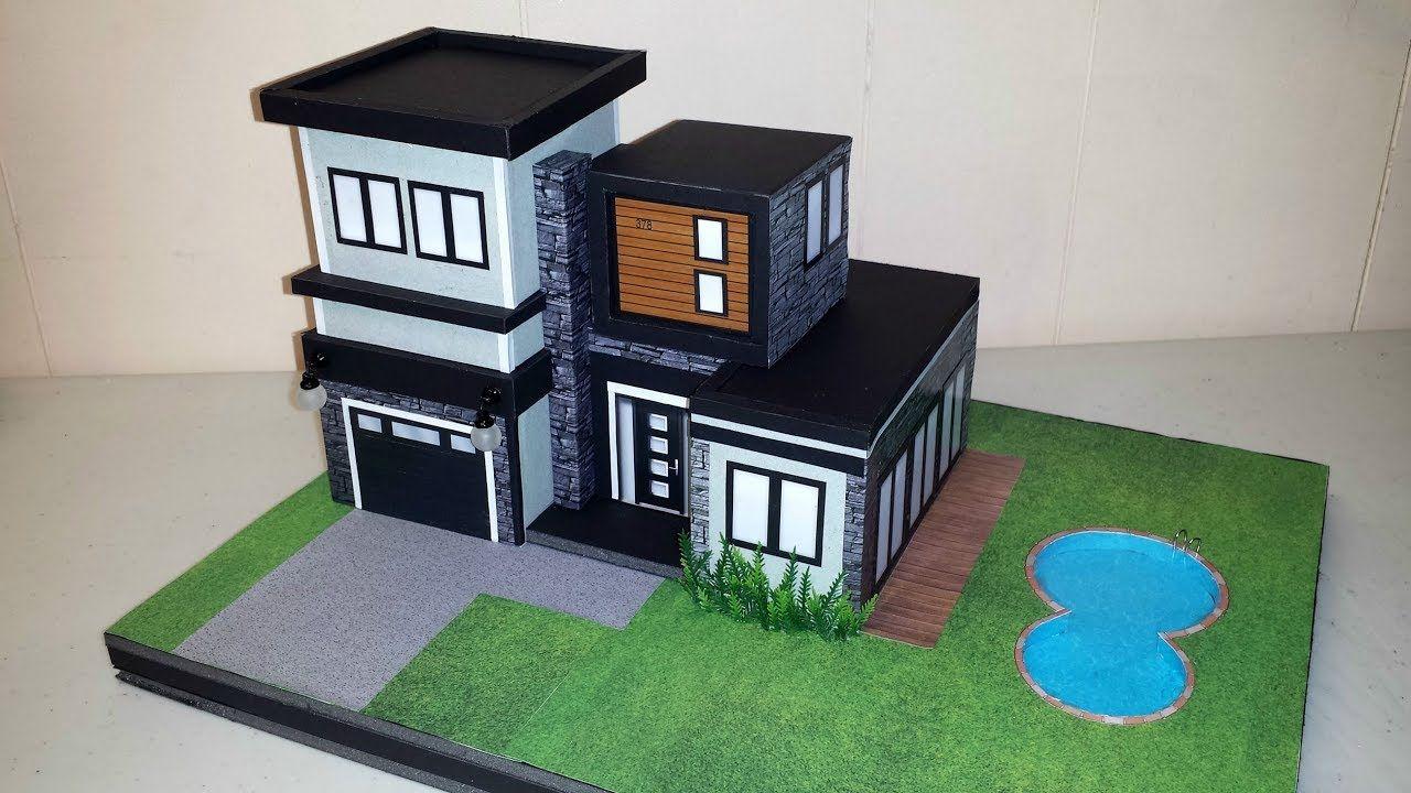 Diy Miniature Modern House Not A Kit Modern House Miniatures