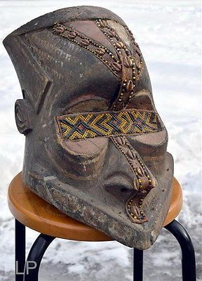 Very Large 1880 African Wood Dance Mask Carving Statue Tribal Art Bead Antique | eBay