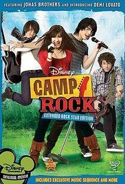 "Camp Rock is basically ""High School Musical goes to camp."" This film featured the Jonas Brothers and introduced us to the soon to be famous, Demi Lovato. Disney Dvd, Film Disney, Disney Movies, Jonas Brothers, Disney Original Movies, Disney Channel Original, High School Musical, Nick Jonas, Rock Film"