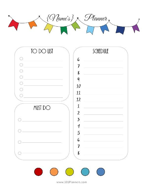Free printable daily planner template You can choose the - free daily planner download