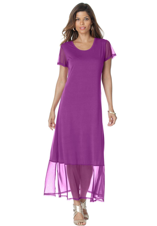 Plus size tee shirt maxi dress