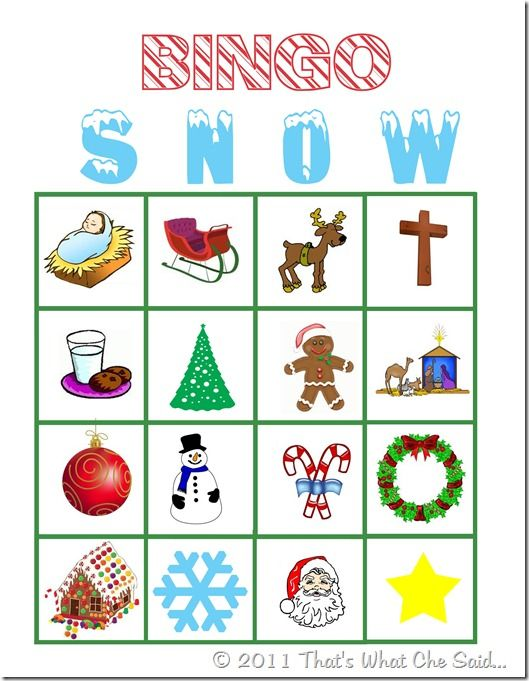 Christmas Bingo Calling Cards - Download....For Kids Christmas party ...
