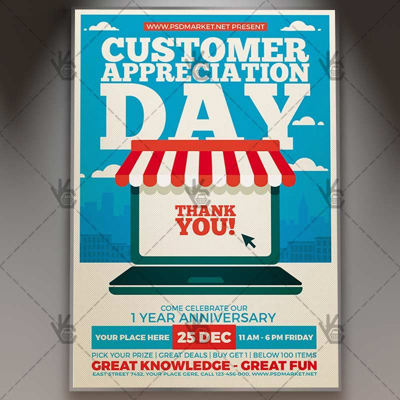 Customer appreciation day business flyer psd template customer appreciation day business flyer psd template appreciationday appreciationideas clientappreciation pronofoot35fo Images