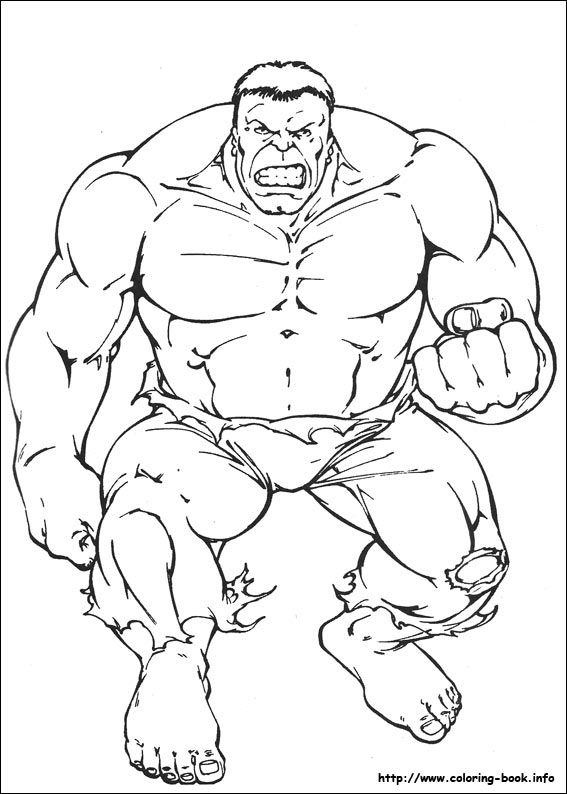 Hulk coloring picture | Colour it in | Pinterest