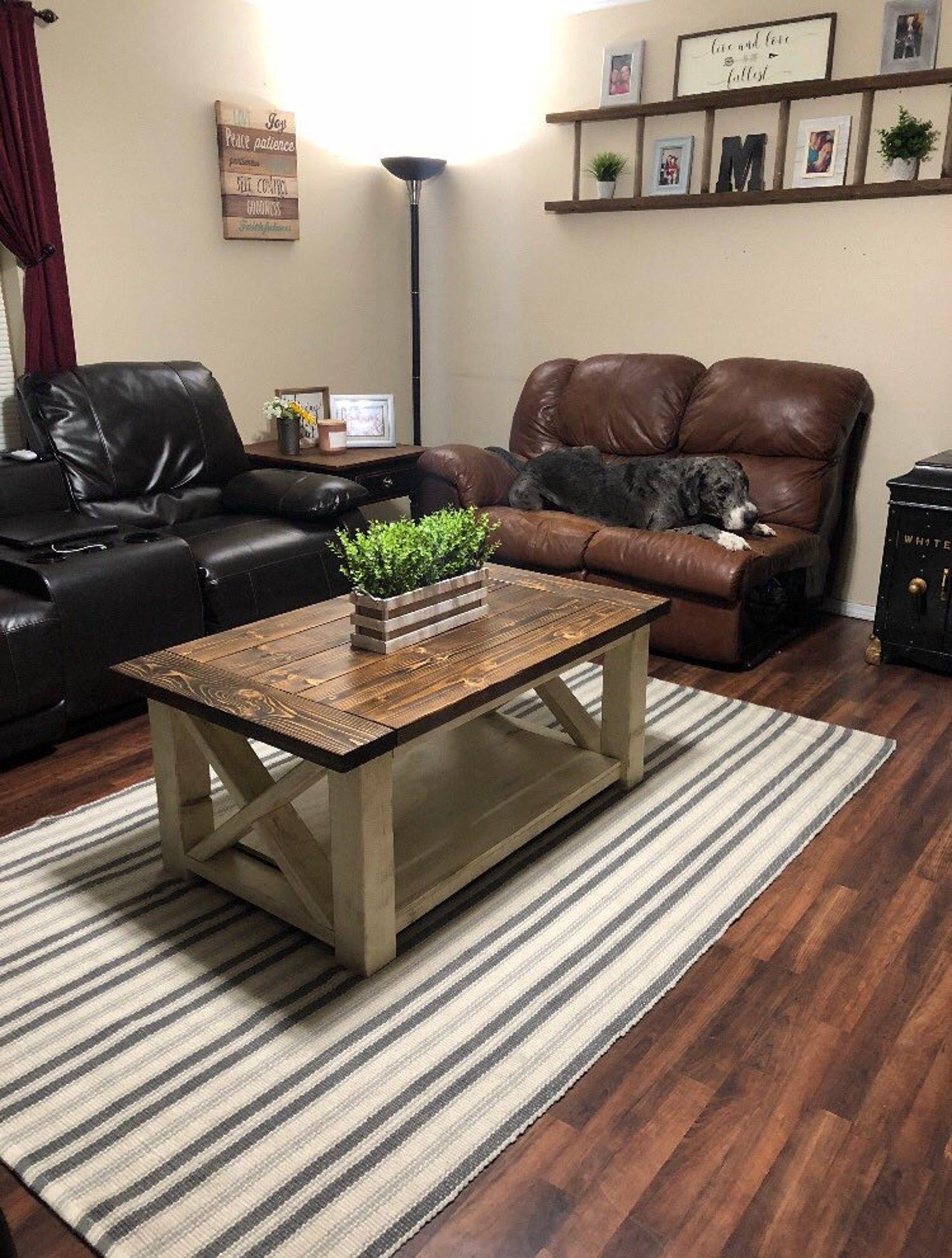 Chunky farmhouse coffee table etsy home accents living