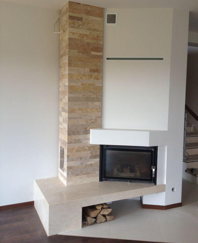 Kominek nowoczesny n55 kominki nowoczesne obudowy kominkowe modern fireplace fireplace - Piastrelle per camino ...