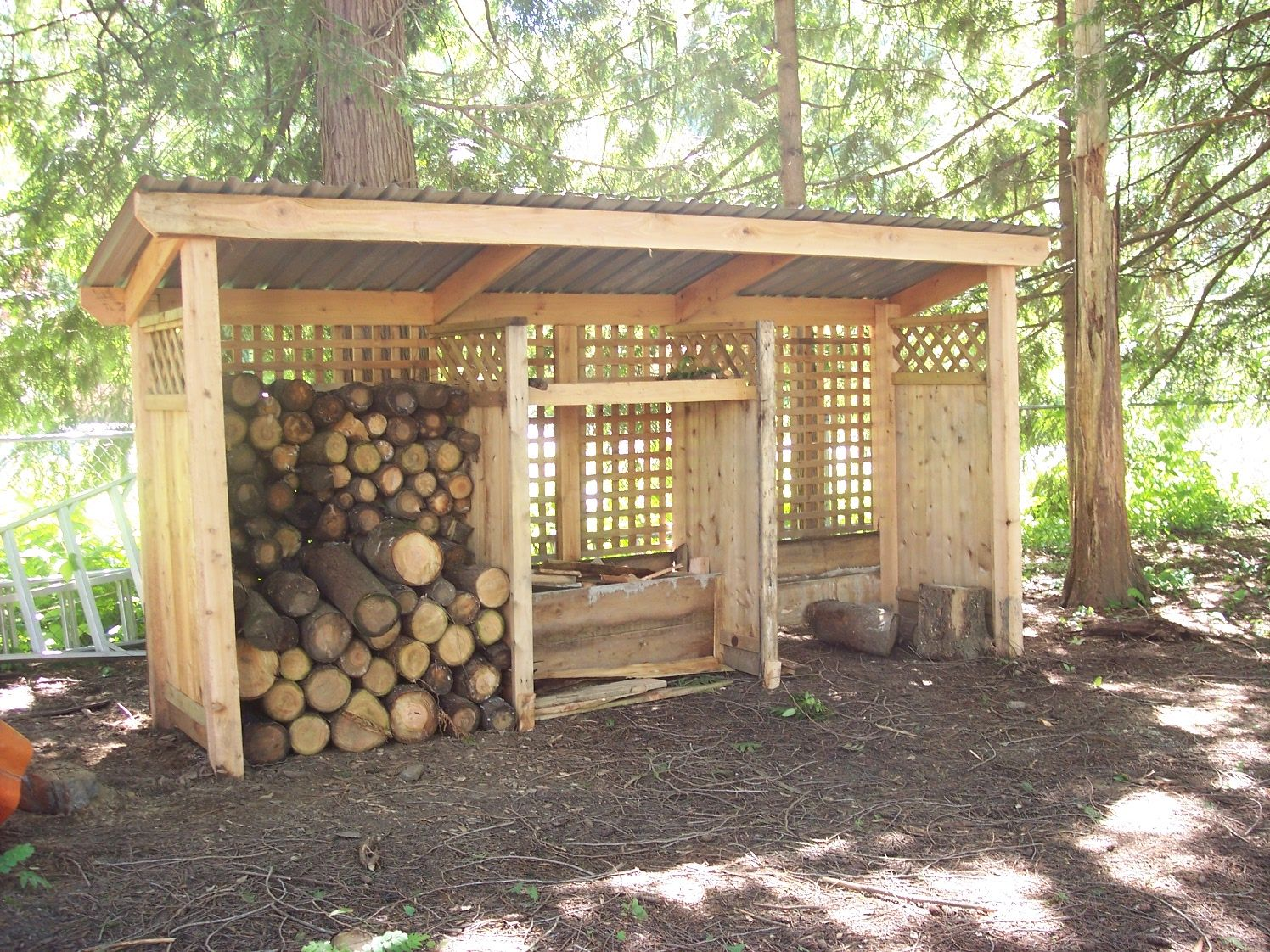 Build A Wood Shed In 6 Hours Building A Wood Shed Wood Storage Sheds Wood Shed Plans
