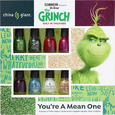 china glaze online only the grinch micro mini nail lacquer