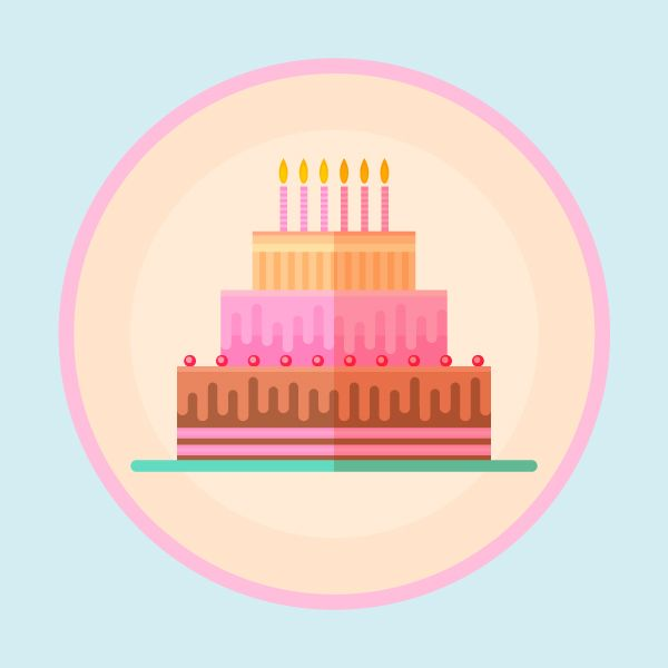 How To Make A Flat Design Birthday Cake In Affinity Designer
