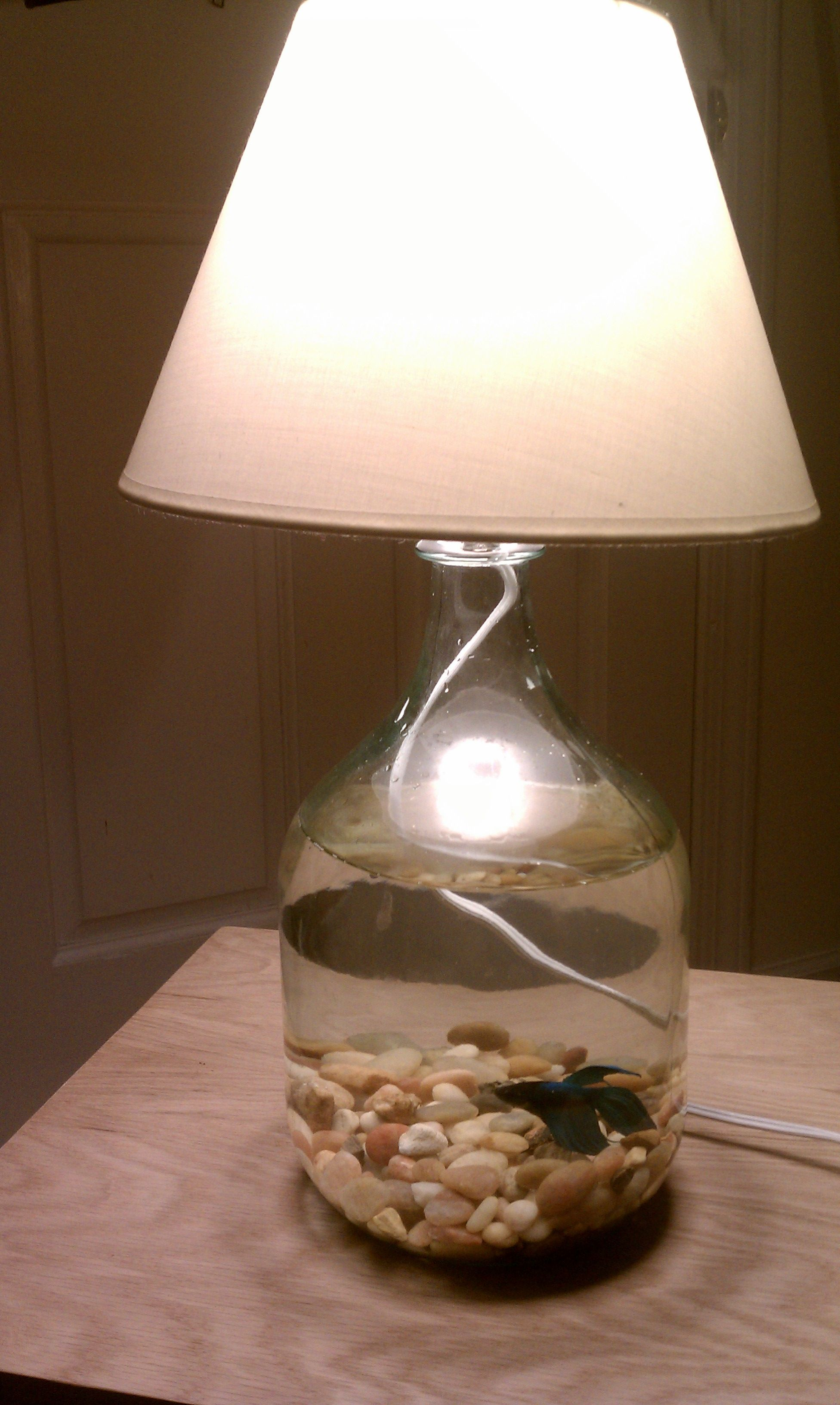 Fish bowl lamp I made from a wine jug! | DIY | Pinterest | Fish ...