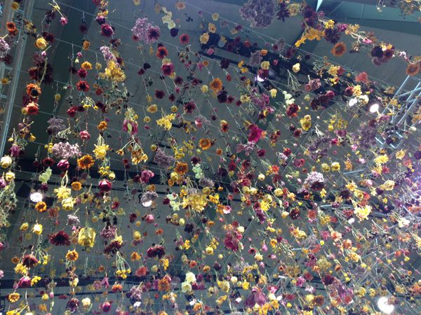 Out About Garten Flower Installation At Bikini Berlin Flower Installation Visual Merchandising Design