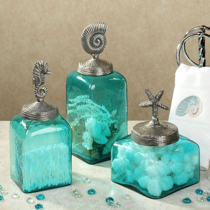 Bathroom Decor turquoise teal Bathroom Decor coral and ...