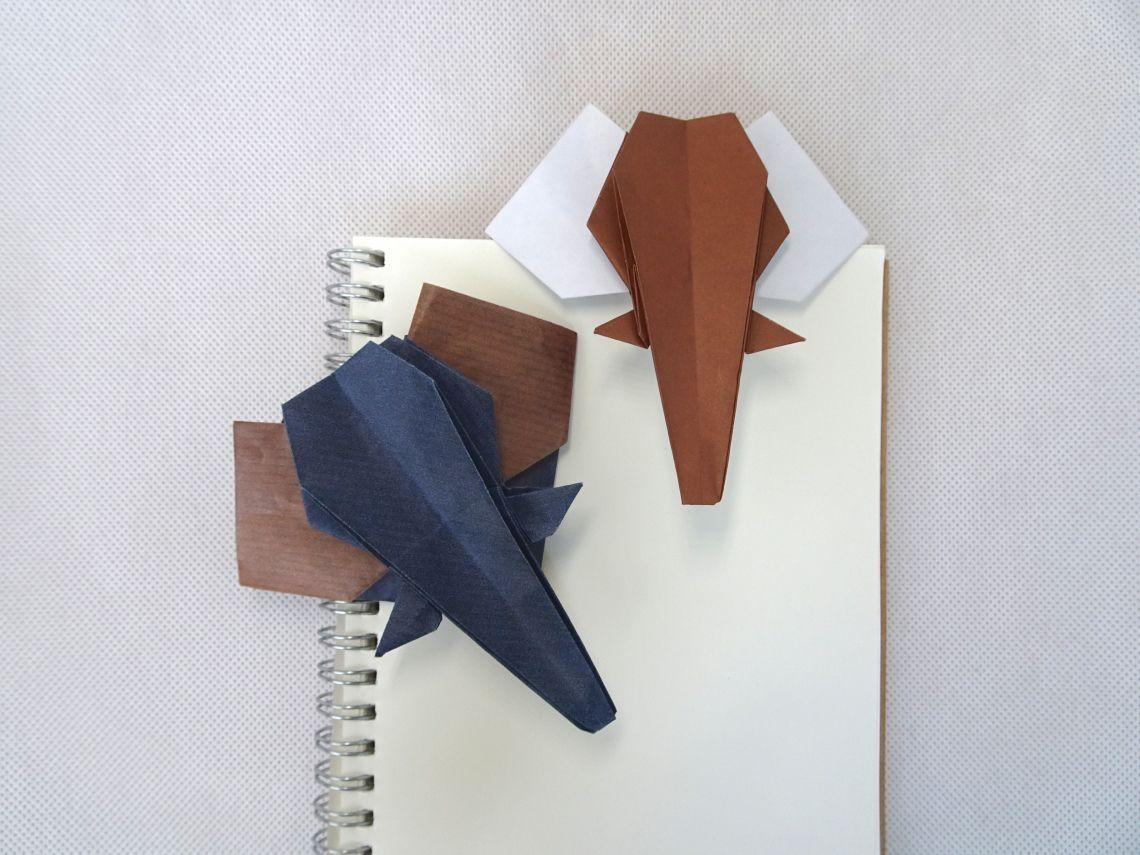 Photo of Origami Elefanten Lesezeichen (Anh Dao)