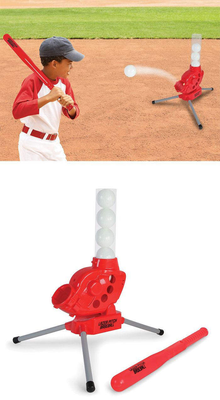 The Batter Controlled Pitching Machine Hammacher Schlemmer This Is The Pitching Machine That Batters Pitching Machine Baseball Pitching Wireless Transmitter