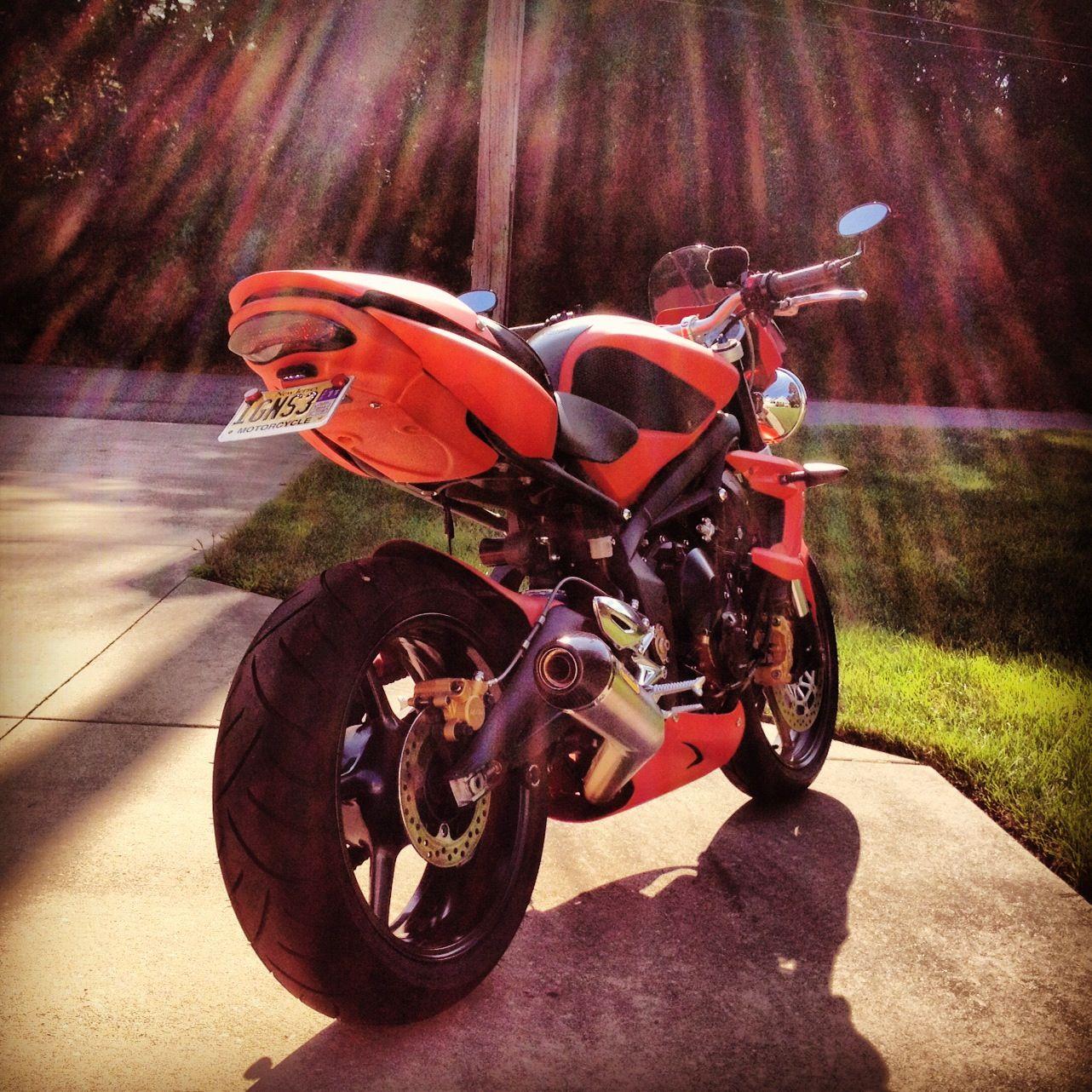 Triumph Street Triple R In Matte Blazing Orange Motorcycles